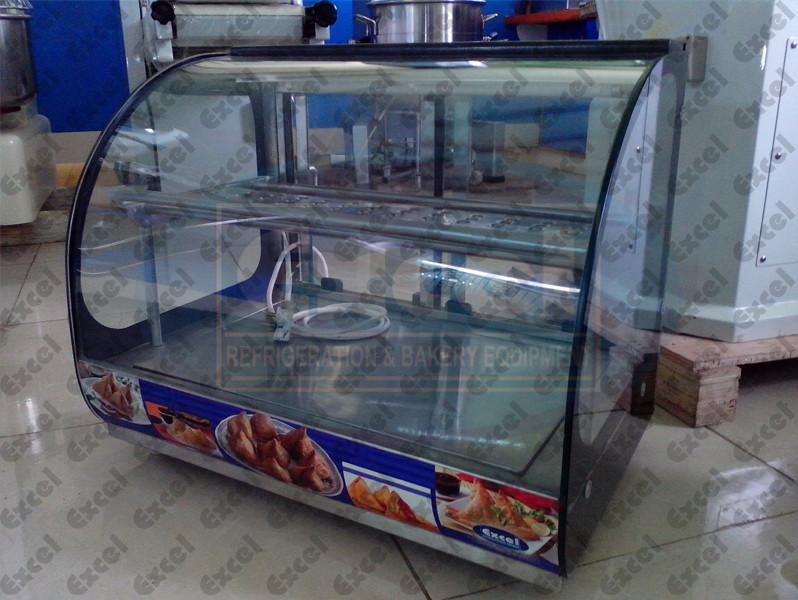 Chats counter paani poori display showcase masala puri samosa heater bhel kachori dhahi dahi alootikki pappadi