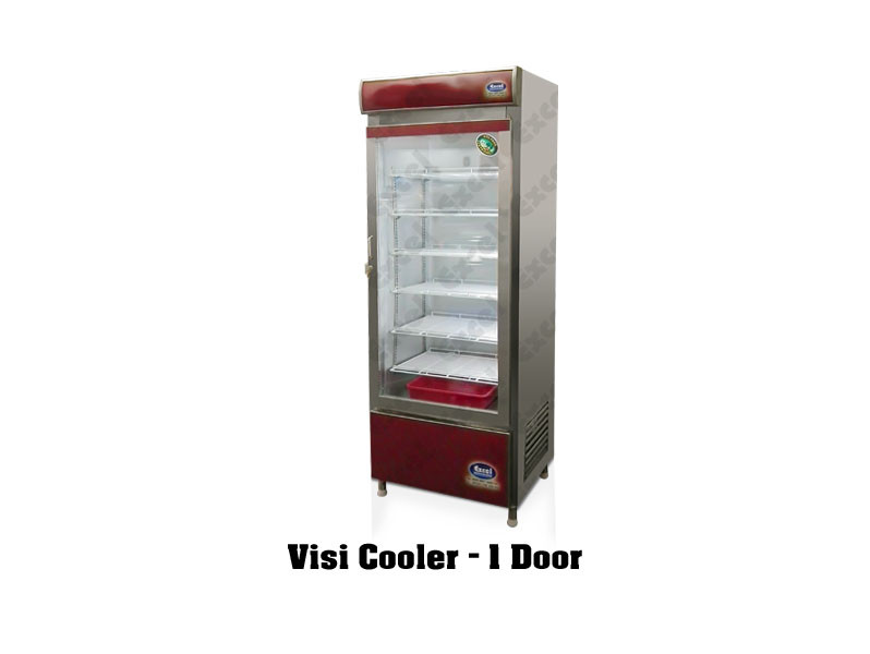Visi cooler one door glass door refrigerator pastry chiller bottle cooler cool drinks cold display fridge