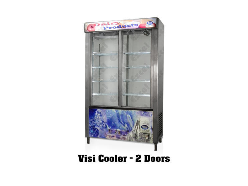 Visi cooler two door glass door refrigerator pastry chiller bottle cooler cool drinks cold display fridge